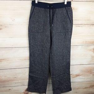 Athleta Women's stripe Bali linen trousers Size 10